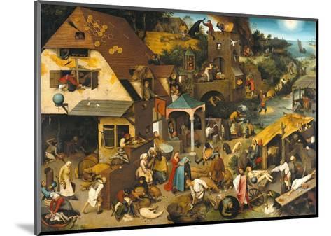The Dutch Proverbs-Pieter Bruegel the Elder-Mounted Giclee Print