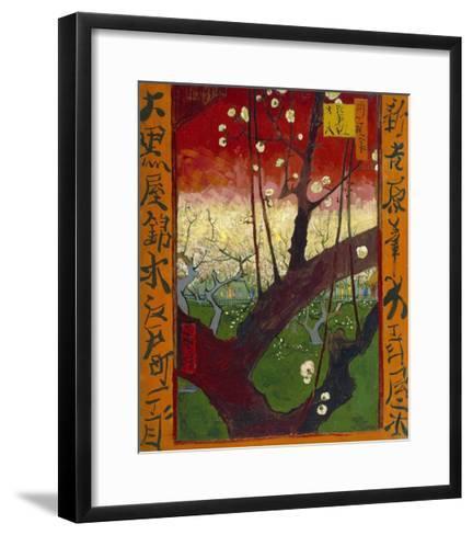 Flowering Plum Tree (After Hiroshige)-Vincent van Gogh-Framed Art Print