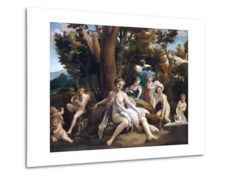 Leda and the Swan-Correggio-Metal Print