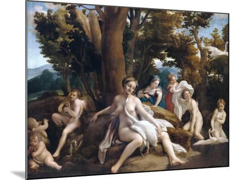 Leda and the Swan-Correggio-Mounted Giclee Print