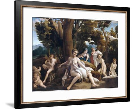 Leda and the Swan-Correggio-Framed Art Print