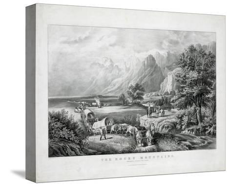 The Rocky Mountains: Emigrants Crossing the Plains-Currier & Ives-Stretched Canvas Print