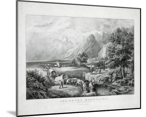 The Rocky Mountains: Emigrants Crossing the Plains-Currier & Ives-Mounted Giclee Print