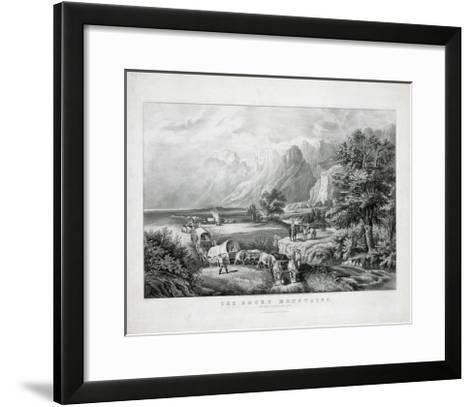 The Rocky Mountains: Emigrants Crossing the Plains-Currier & Ives-Framed Art Print