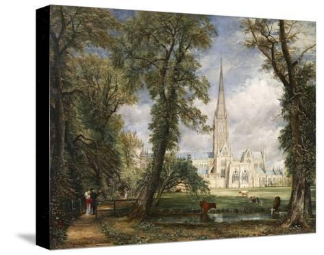 Salisbury Cathedral from the Bishop's Garden-John Constable-Stretched Canvas Print