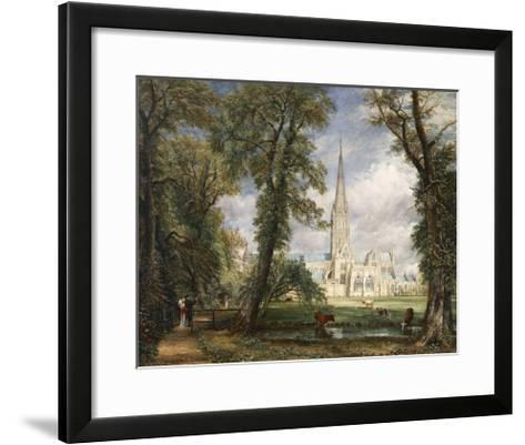 Salisbury Cathedral from the Bishop's Garden-John Constable-Framed Art Print