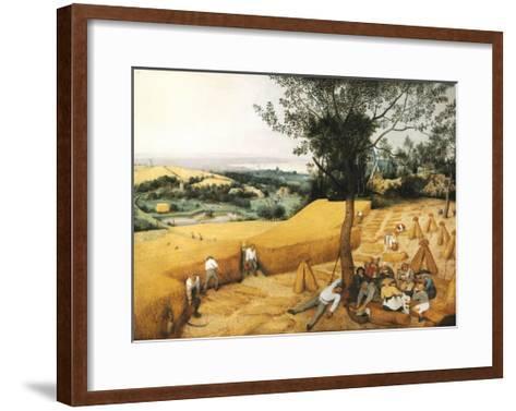 The Harvesters-Pieter Bruegel the Elder-Framed Art Print