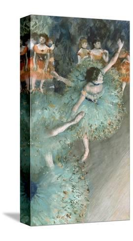 Swaying Dancer (Dancer in Green)-Edgar Degas-Stretched Canvas Print