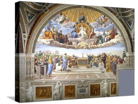 Disputation of the Holy Sacrament-Raphael-Stretched Canvas Print