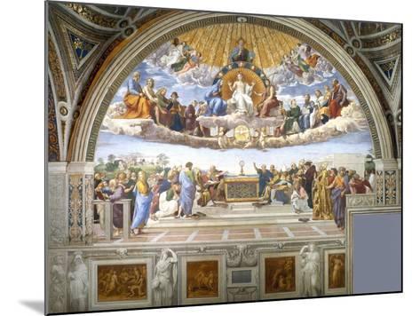 Disputation of the Holy Sacrament-Raphael-Mounted Giclee Print