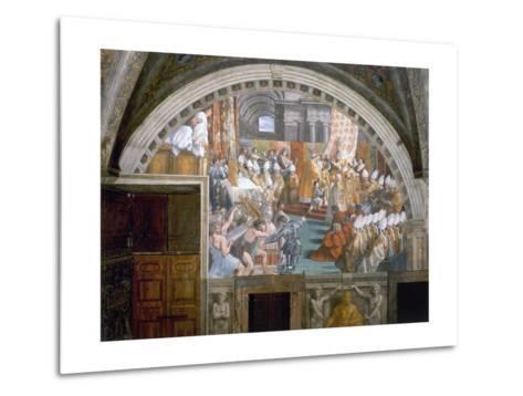 The Coronation of Charlemagne-Raphael-Metal Print