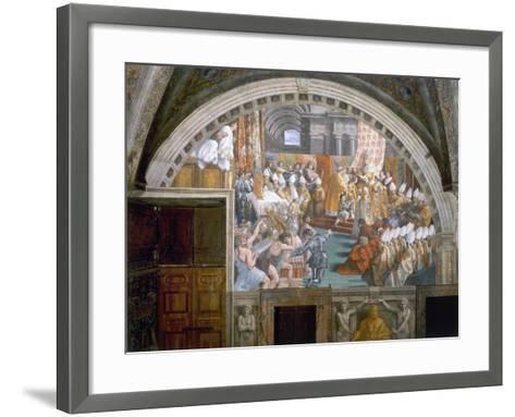 The Coronation of Charlemagne-Raphael-Framed Art Print