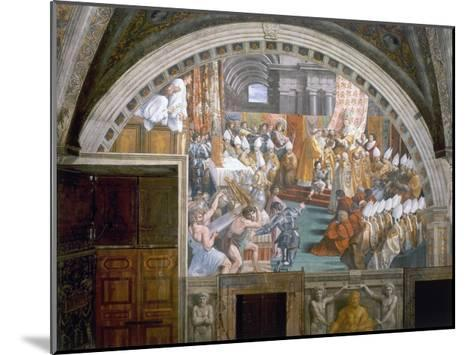 The Coronation of Charlemagne-Raphael-Mounted Giclee Print