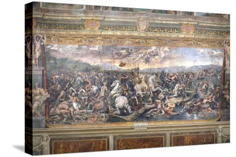 Constantine's Battle at the Milvian Bridge-Raphael-Stretched Canvas Print