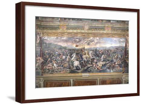 Constantine's Battle at the Milvian Bridge-Raphael-Framed Art Print