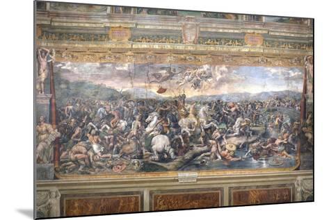 Constantine's Battle at the Milvian Bridge-Raphael-Mounted Giclee Print