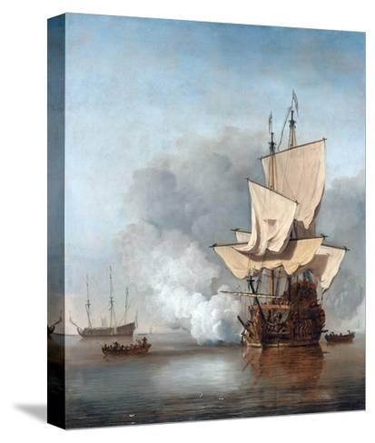 The Cannon Shot-Willem Van De Velde The Younger-Stretched Canvas Print