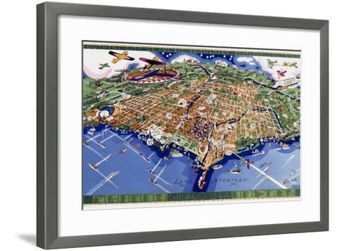 Chicago World's Fair Map--Framed Art Print