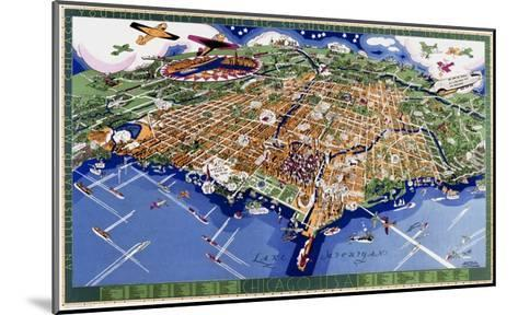 Chicago World's Fair Map--Mounted Giclee Print