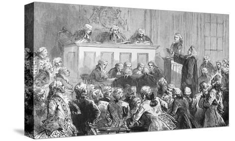 Illustration of the Trial of Peter Zenger in New York--Stretched Canvas Print