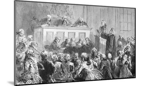 Illustration of the Trial of Peter Zenger in New York--Mounted Giclee Print