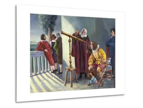 Galileo and Milton in Obseratory--Metal Print