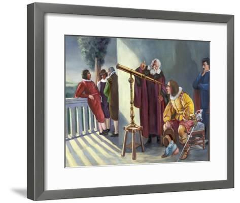 Galileo and Milton in Obseratory--Framed Art Print