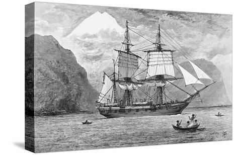 HMS Beagle in Straits of Magellan--Stretched Canvas Print