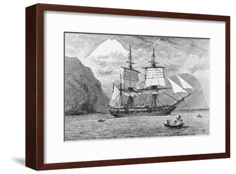 HMS Beagle in Straits of Magellan--Framed Art Print