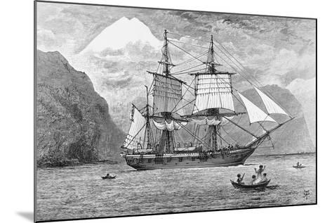HMS Beagle in Straits of Magellan--Mounted Giclee Print