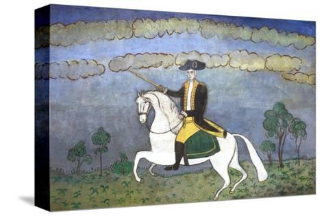 George Washington on Horseback--Stretched Canvas Print