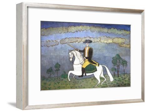 George Washington on Horseback--Framed Art Print