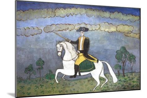 George Washington on Horseback--Mounted Giclee Print