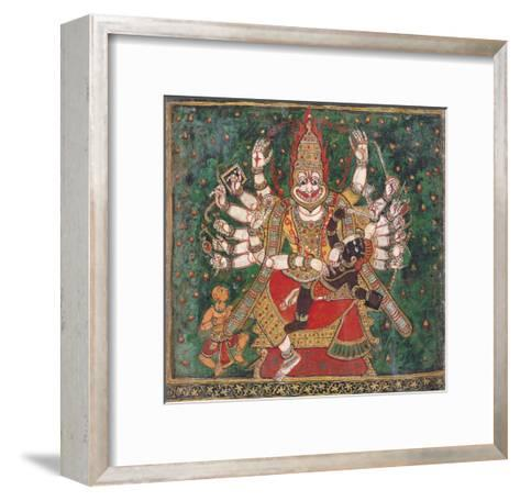 Narasimha Killing Hiranyakashipu, as Prahlada Watches--Framed Art Print