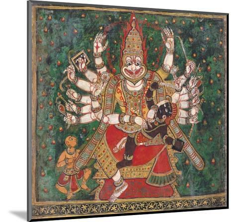Narasimha Killing Hiranyakashipu, as Prahlada Watches--Mounted Giclee Print