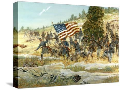The Battle of Gettysburg--Stretched Canvas Print