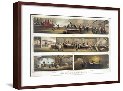 Pork Packing in Cincinnati--Framed Art Print