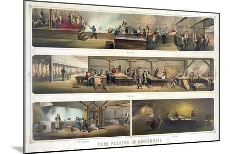 Pork Packing in Cincinnati--Mounted Giclee Print