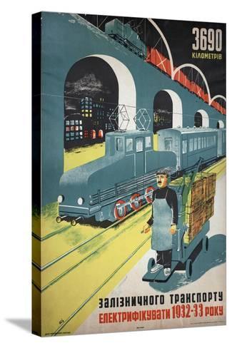 Soviet Propaganda Poster--Stretched Canvas Print