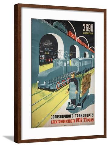 Soviet Propaganda Poster--Framed Art Print