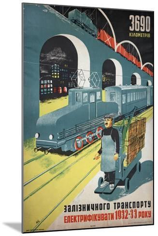 Soviet Propaganda Poster--Mounted Giclee Print