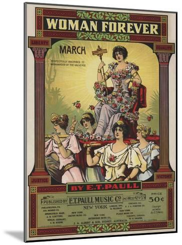 Woman Forever Sheet Music Cover--Mounted Giclee Print