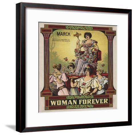 Woman Forever Sheet Music Cover--Framed Art Print