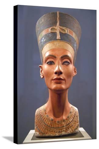 Bust of Nefertiti--Stretched Canvas Print