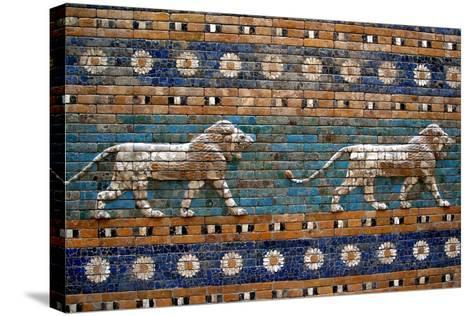 Detail of Lions on Ishtar Gate at Pergamon Museum--Stretched Canvas Print