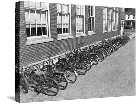 Bikes on Bike Rack-Philip Gendreau-Stretched Canvas Print