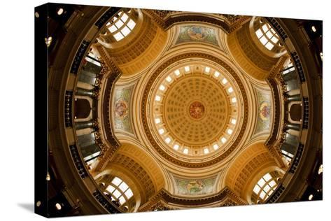 Dome in the Wisconsin State Capitol-Paul Souders-Stretched Canvas Print