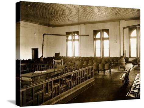 Courtroom Interior--Stretched Canvas Print
