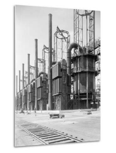 View of Cracking Stills at Oil Refinery--Metal Print