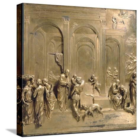 Jacob and Esau from the Gates of Paradise-Lorenzo Ghiberti-Stretched Canvas Print